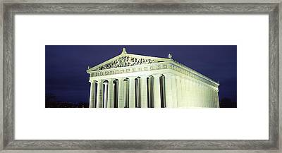 Nashville Parthenon At Night Framed Print by Panoramic Images