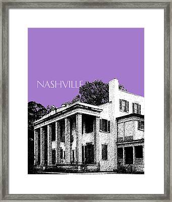 Nashville Skyline Belle Meade Plantation - Violet Framed Print by DB Artist