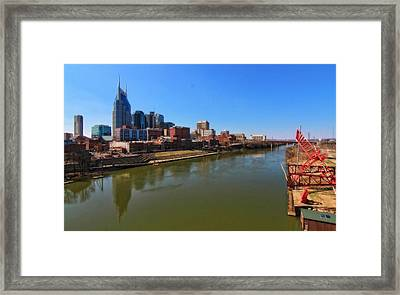 Nashville Skyline  Framed Print by Dan Sproul