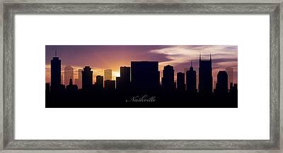 Nashville Sunset Framed Print by Aged Pixel