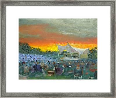 Nashville Symphony At Crockett Park Framed Print by Tommy Thompson