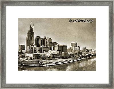 Nashville Tennessee Framed Print by Dan Sproul