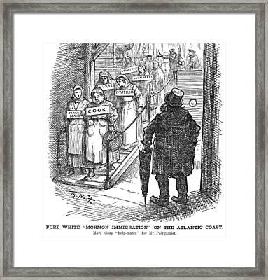 Nast Mormon Cartoon, 1882 Framed Print by Granger