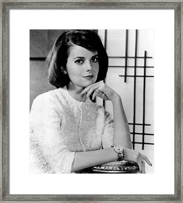 Natalie Wood Hand Under Chin Framed Print by Retro Images Archive