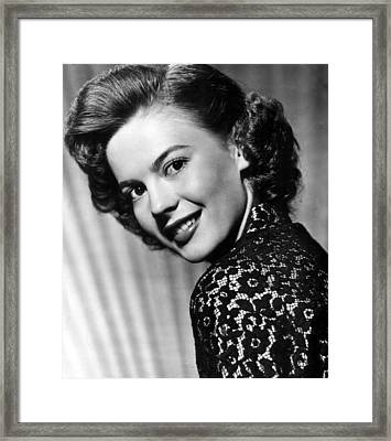 Natalie Wood Head Shot Framed Print by Retro Images Archive