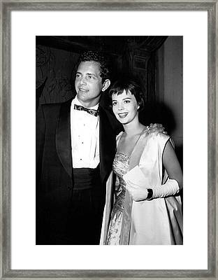 Natalie Wood In Formal Wear Framed Print by Retro Images Archive