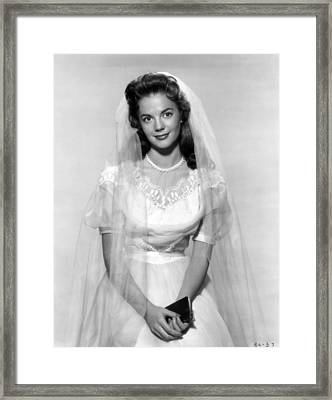 Natalie Wood In Wedding Dress Framed Print by Retro Images Archive