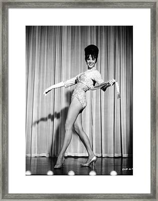 Natalie Wood On Stage Framed Print by Retro Images Archive