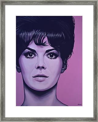 Natalie Wood Framed Print by Paul Meijering