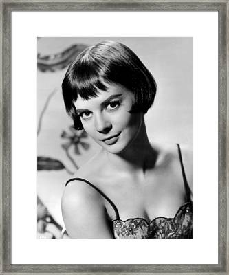 Natalie Wood With Short Hair Framed Print by Retro Images Archive