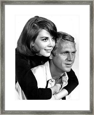 Natalie Wood With Steve Mcqueen Framed Print by Retro Images Archive