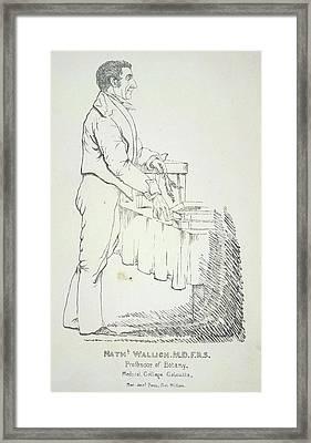 Nathaniel Wallich Framed Print by British Library