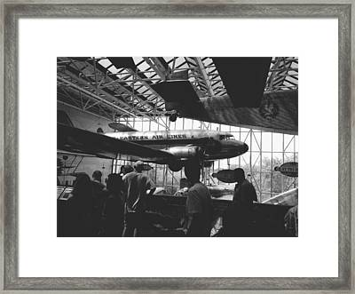 National Air And Space Museum Framed Print by Luis Nieves