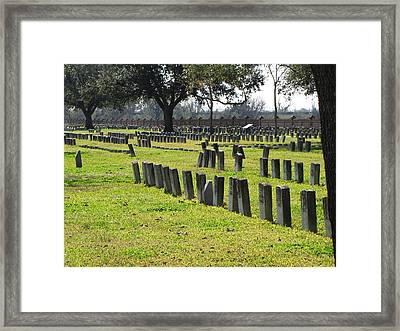 National Cemetery Framed Print by Beth Vincent