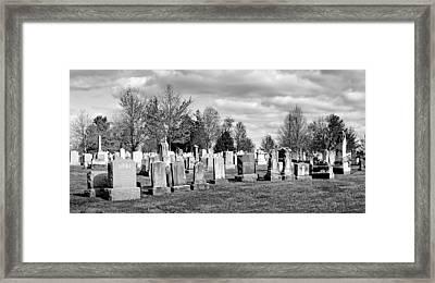 National Cemetery - Gettysburg Battlefield Framed Print by Brendan Reals