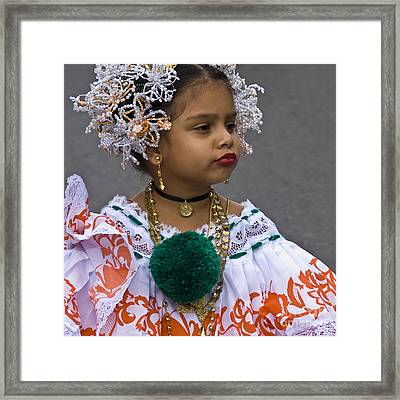 National Costume Of Panama Framed Print by Heiko Koehrer-Wagner