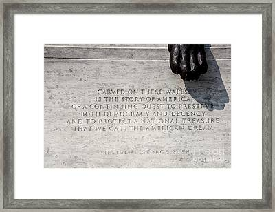 National Law Enforcement Officers Memorial Framed Print by William Kuta