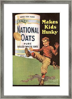 National Oats 1920s Usa Cereals Framed Print by The Advertising Archives