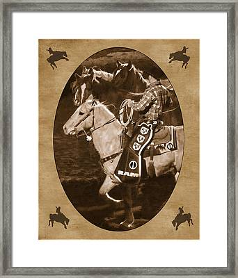 National Western Stock Show Framed Print by Priscilla Burgers