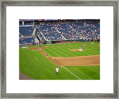 Nationals Park - 01136 Framed Print by DC Photographer