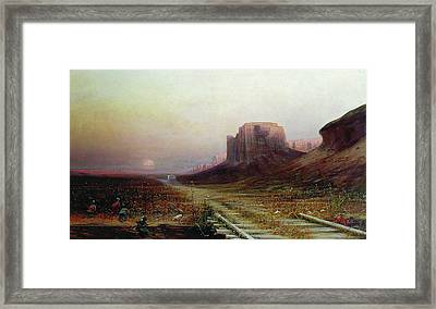 Native American Ambush Framed Print by Granger