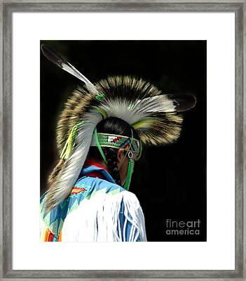 Native American Boy Framed Print by Kathleen Struckle