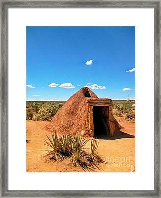Native American Earth Lodge Framed Print by John Malone