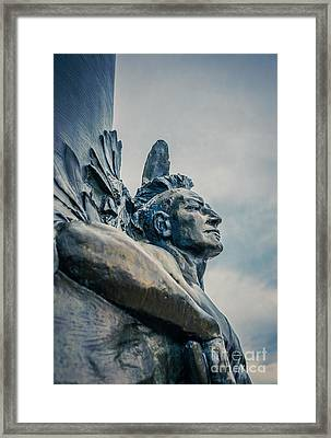 Native American Framed Print by Edward Fielding