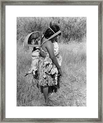 Native American Mother And Baby Framed Print by Underwood Archives Onia