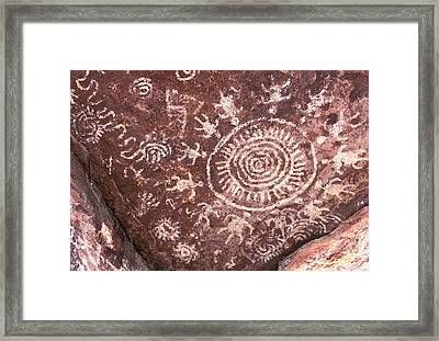 Native American Pictographs Framed Print by Robert Jensen
