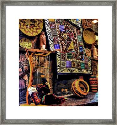 Native American Pottery And Crafts Framed Print by Dan Sproul