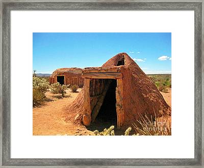 Native American Shelters Framed Print by John Malone