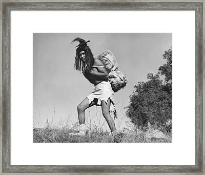 Native American Traders Framed Print by Underwood Archives Onia