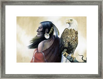 Native Americans Framed Print by Gregory Perillo