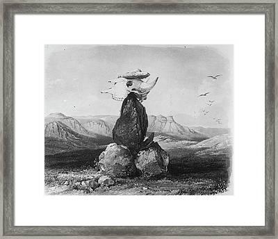 Native Americans Sacred Pile Framed Print by Granger