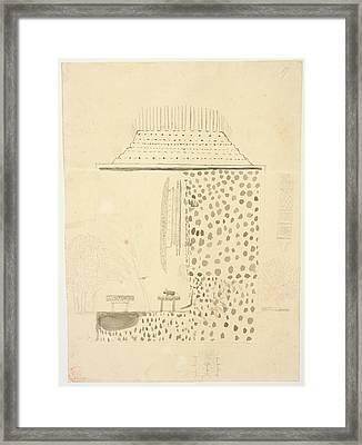 Native Building Framed Print by British Library