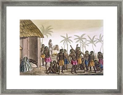 Native Funeral Service Near Luanda Framed Print by Felice Campi
