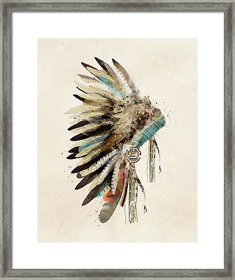 Native Headdress Framed Print by Bri B