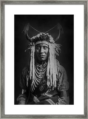 Native Man Circa 1900 Framed Print by Aged Pixel