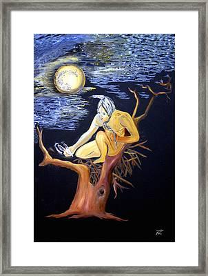 Native Nesting Framed Print by Ayasha Loya Aka Pari  Dominic