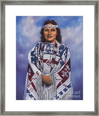 Native Queen Framed Print by Ricardo Chavez-Mendez