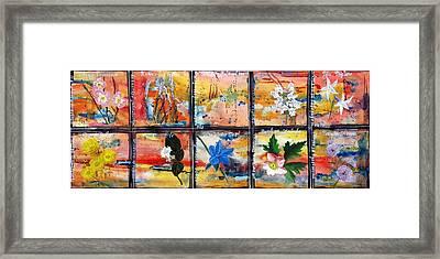 native Texas wildflowers B Framed Print by Michael Dillon
