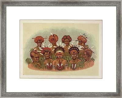Natives Of Humboldt Bay Framed Print by British Library