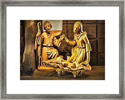 Nativity Framed Print by Cricket Hackmann