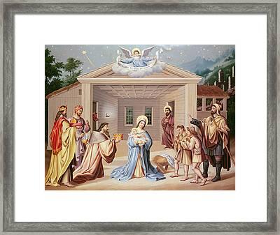 Nativity Framed Print by American School