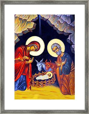 Nativity Feast Framed Print by Munir Alawi