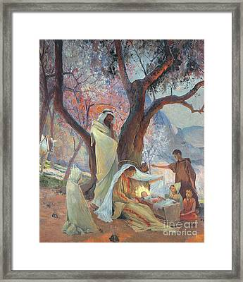 Nativity Framed Print by Frederic Montenard