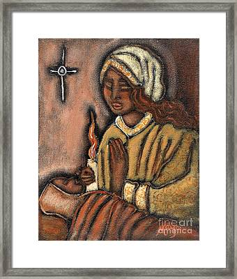 Nativity Framed Print by Maya Telford