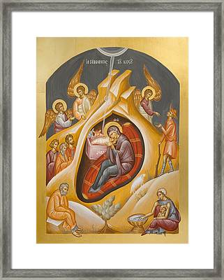 Nativity Of Christ Framed Print by Julia Bridget Hayes