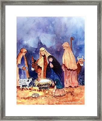 Nativity Framed Print by Suzy Pal Powell